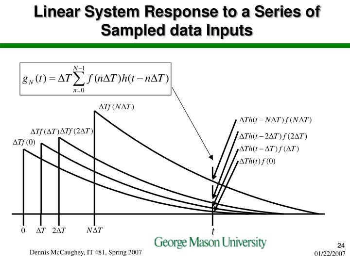 Linear System Response to a Series of Sampled data Inputs