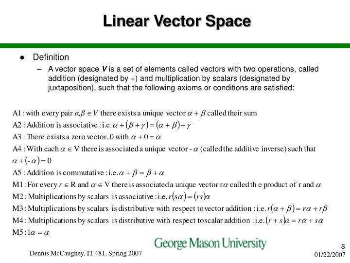 Linear Vector Space