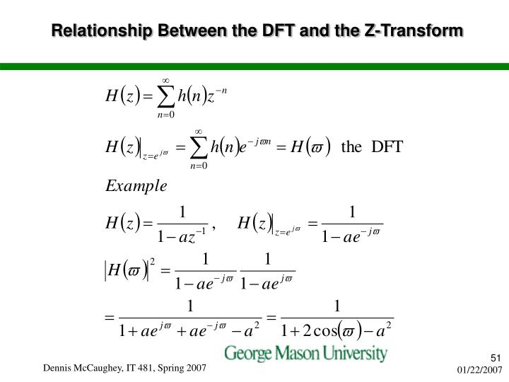 Relationship Between the DFT and the Z-Transform
