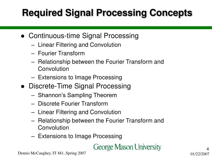 Required Signal Processing Concepts