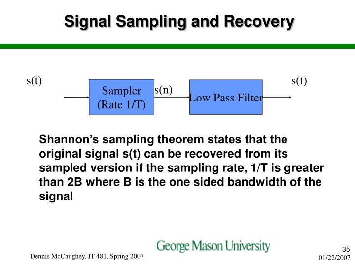 Signal Sampling and Recovery