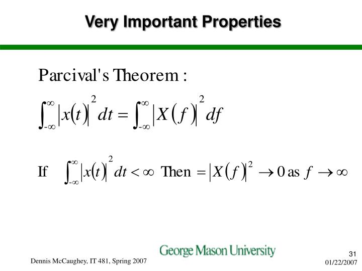 Very Important Properties