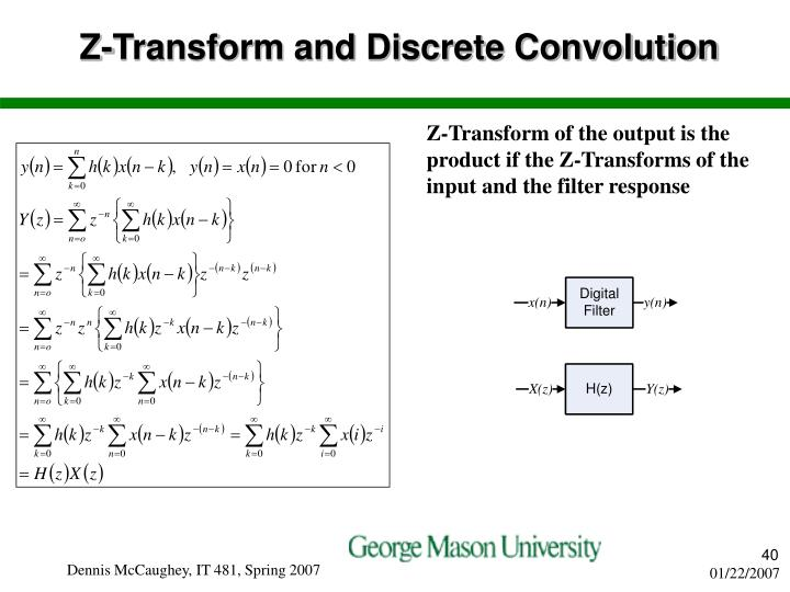 Z-Transform and Discrete Convolution
