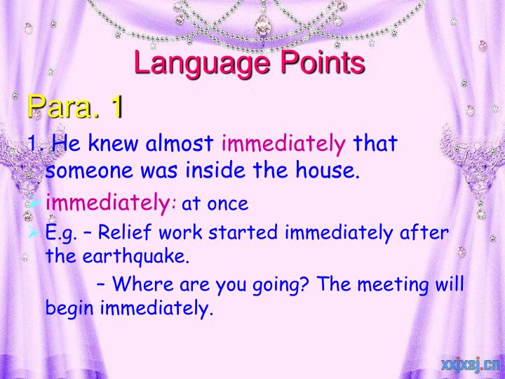 Language Points