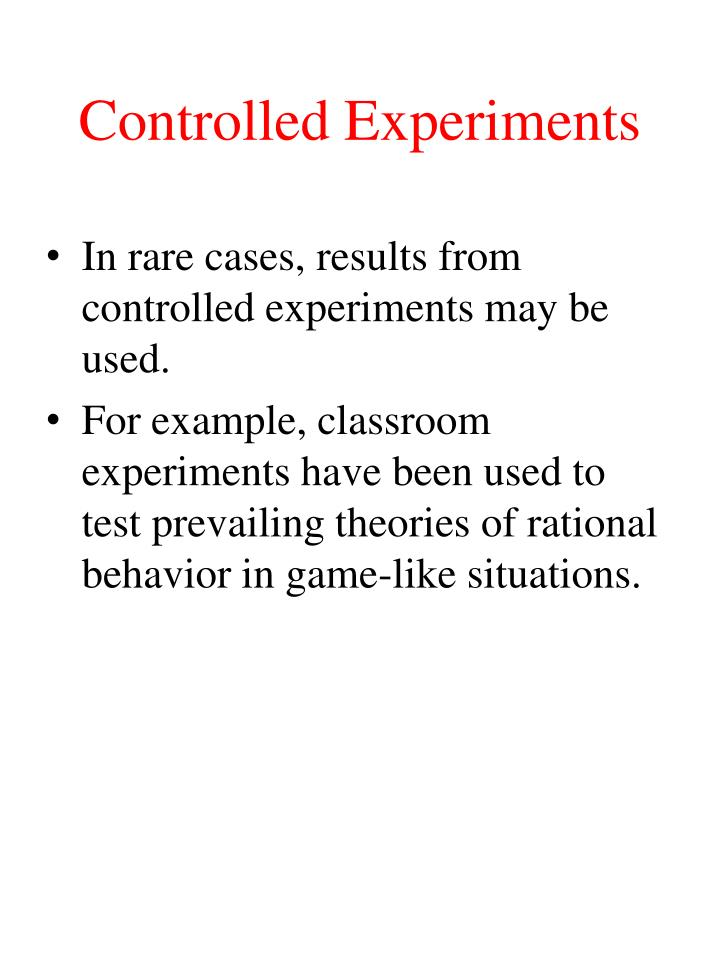 Controlled Experiments