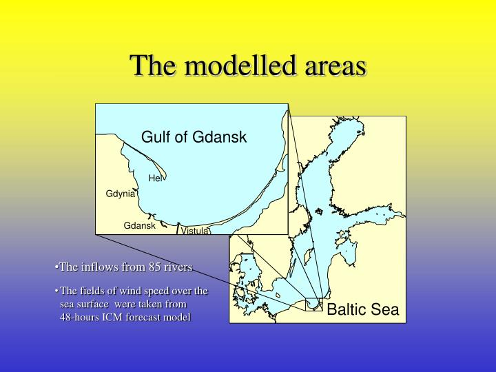 The modelled areas