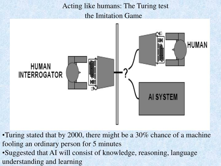 Acting like humans: The Turing test