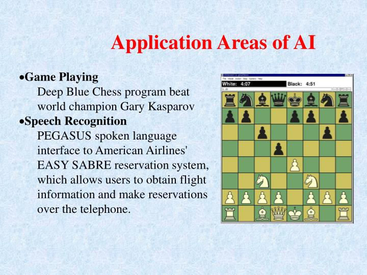 Application Areas of AI