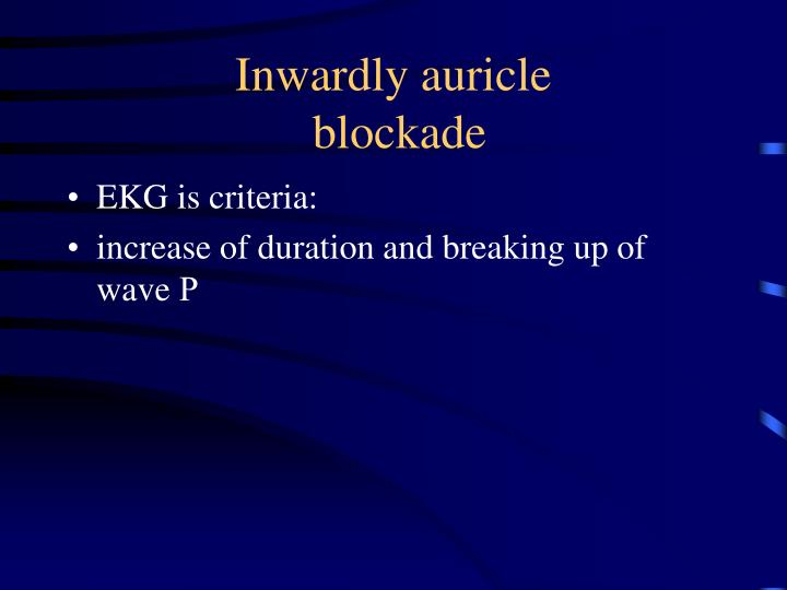 Inwardly auricle