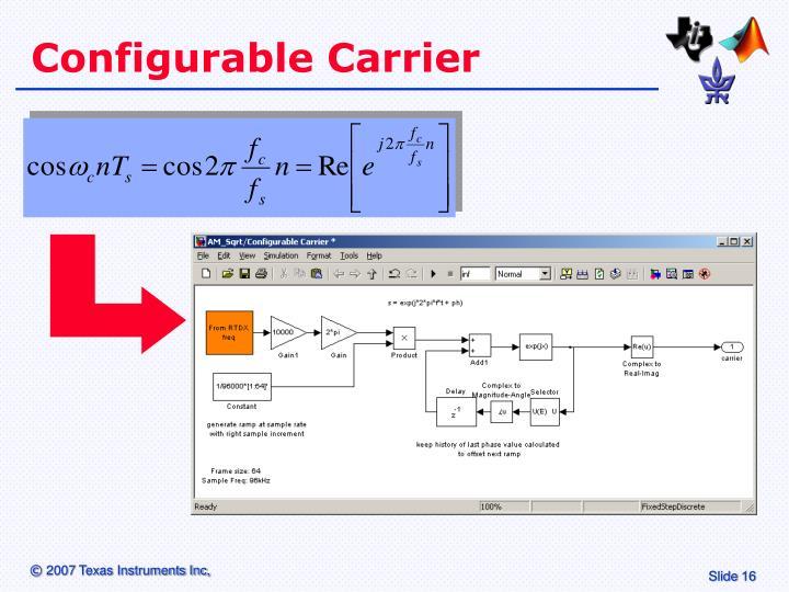 Configurable Carrier