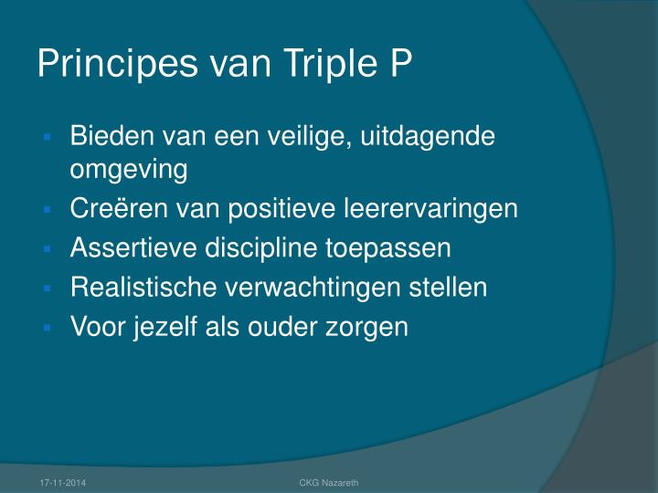 Principes van Triple P