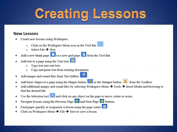 Creating Lessons