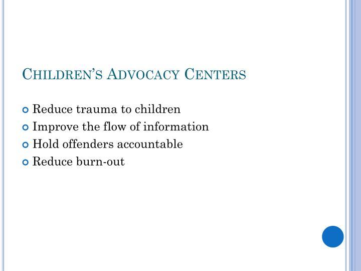 Children's Advocacy Centers