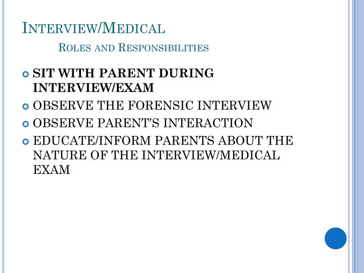 Interview/Medical