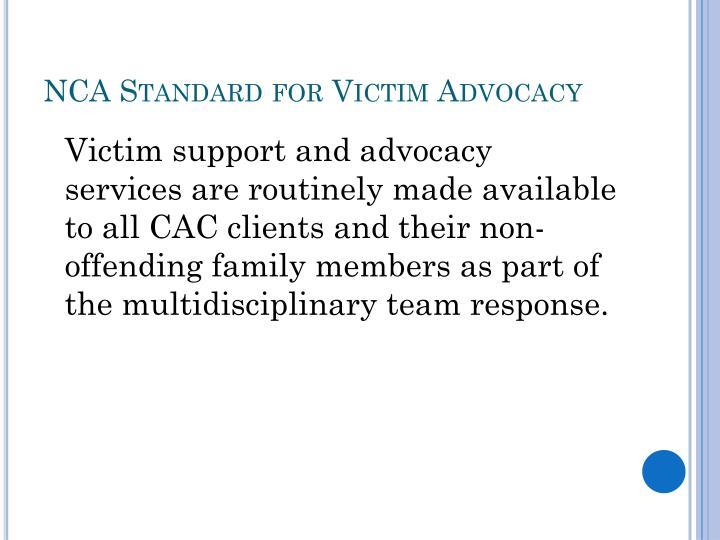 NCA Standard for Victim Advocacy