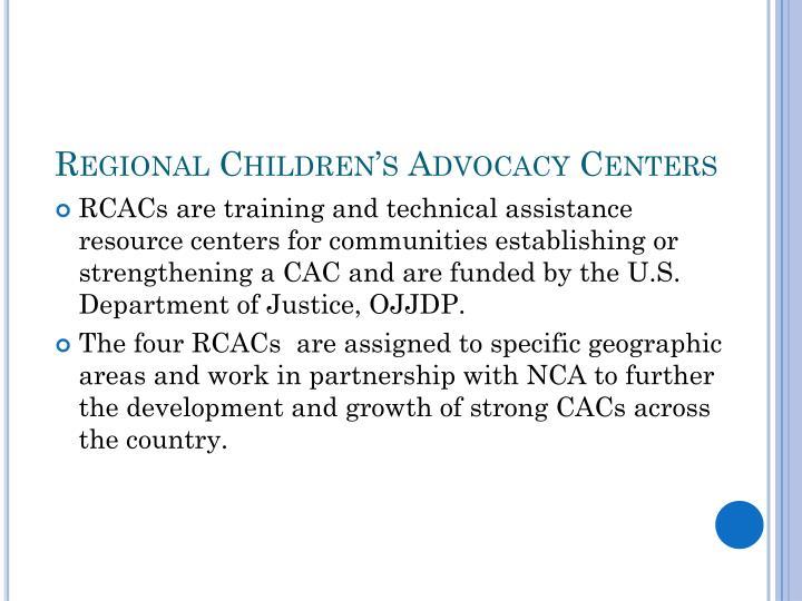 Regional Children's Advocacy Centers