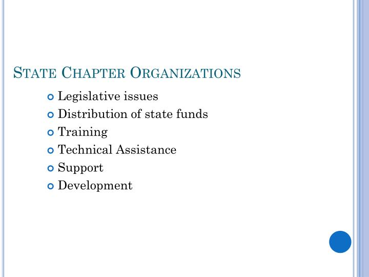 State Chapter Organizations