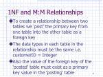 1nf and m m relationships