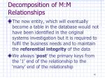decomposition of m m relationships1