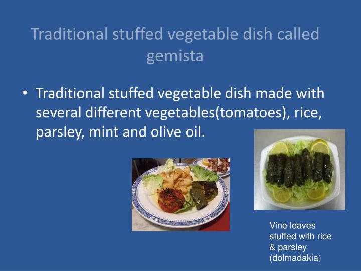 Traditional stuffed vegetable dish called