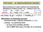 corrosion an electrochemical reaction