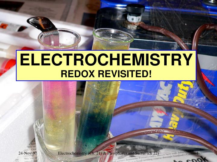 electrochemistry redox revisited