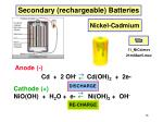 secondary rechargeable batteries