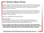 activity 2 space colony