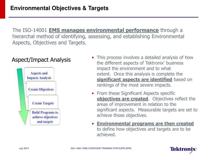 Environmental Objectives & Targets
