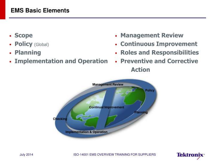 EMS Basic Elements