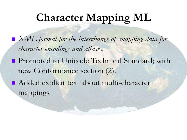 Character Mapping ML