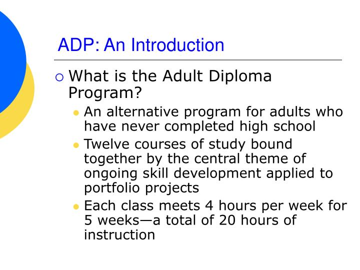 ADP: An Introduction