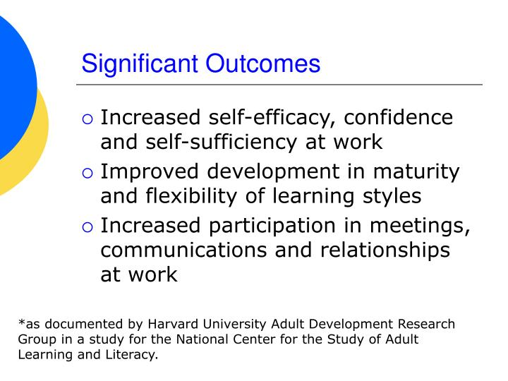 Significant Outcomes