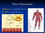force generation