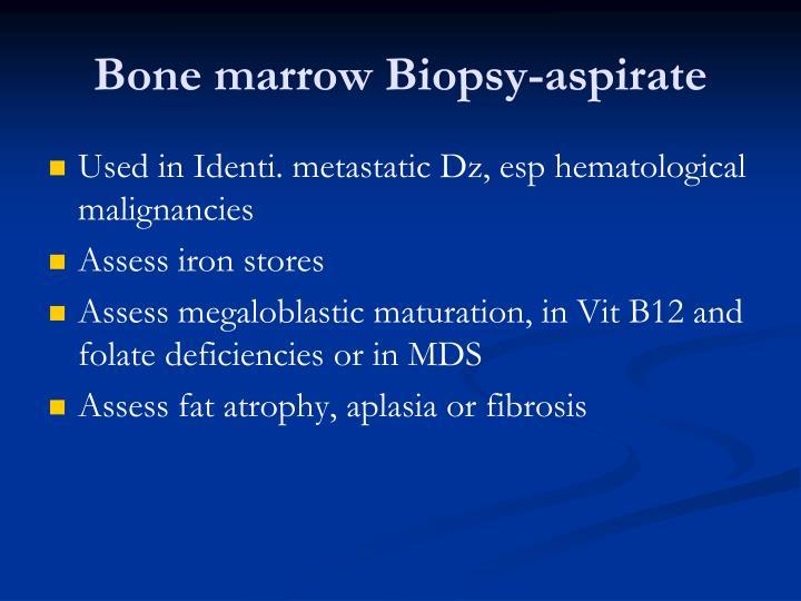 Bone marrow Biopsy-aspirate
