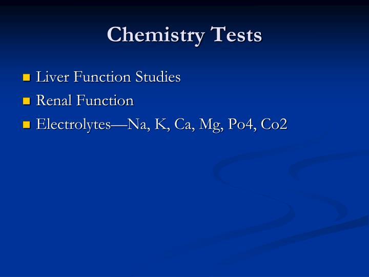 Chemistry Tests
