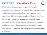 creative s view