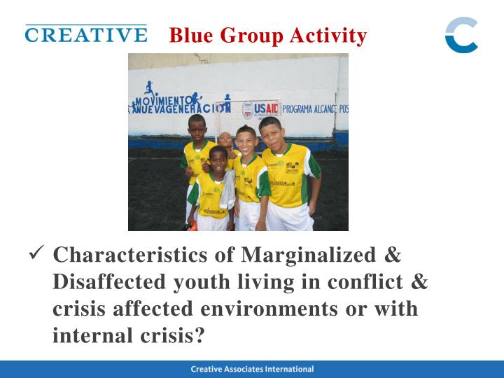 Blue Group Activity