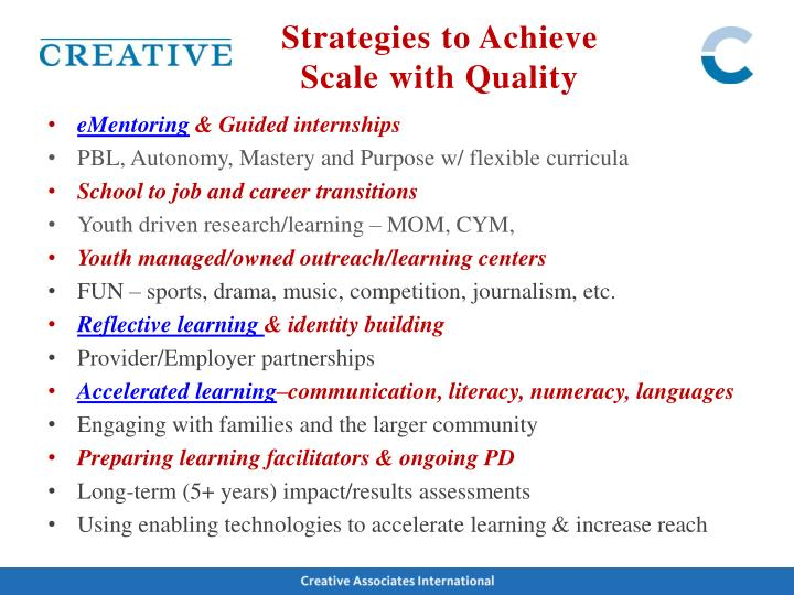 Strategies to Achieve