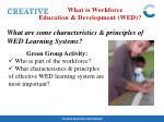 what is workforce education development wed