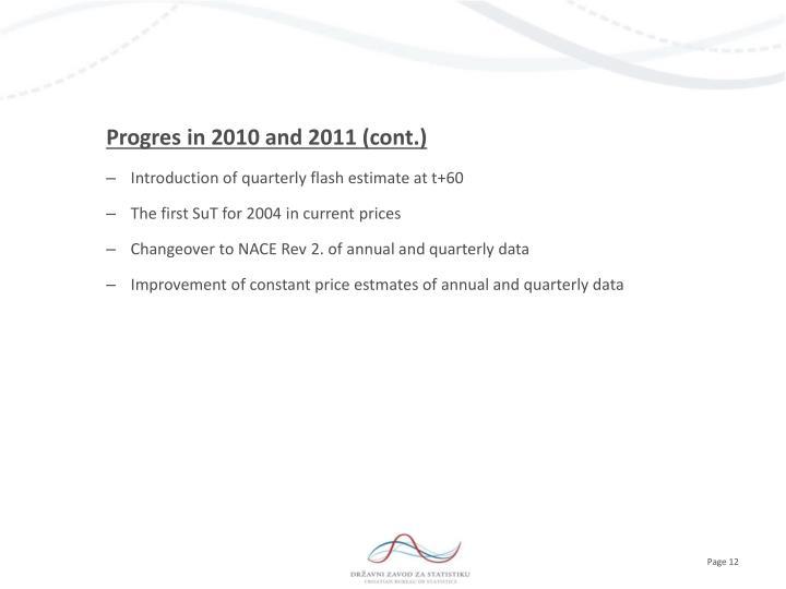 Progres in 2010