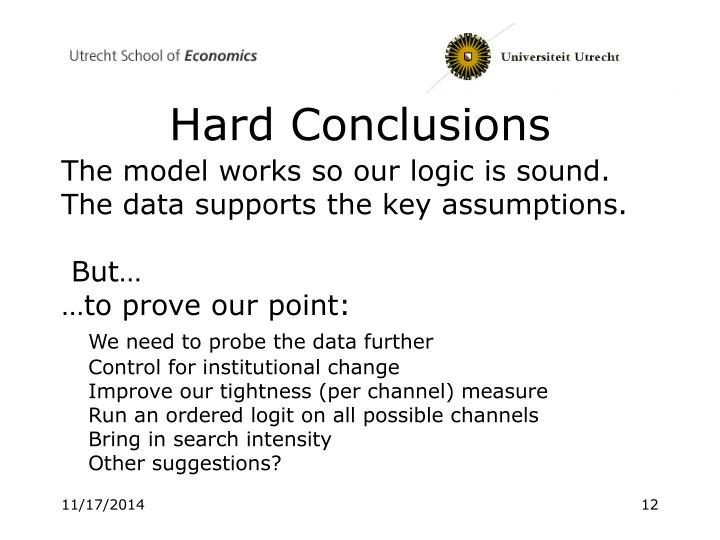 Hard Conclusions