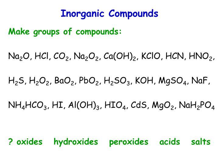 Inorganic Compounds