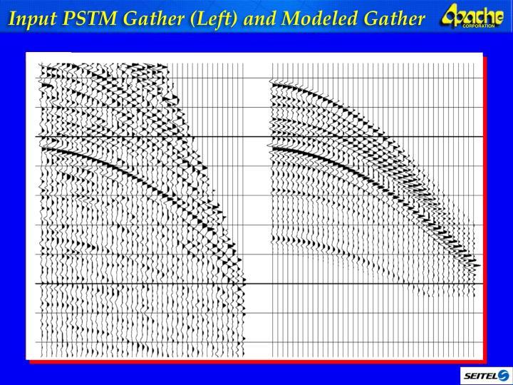 Input PSTM Gather (Left) and Modeled Gather
