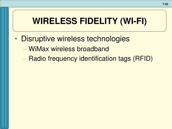 WIRELESS FIDELITY (WI-FI)