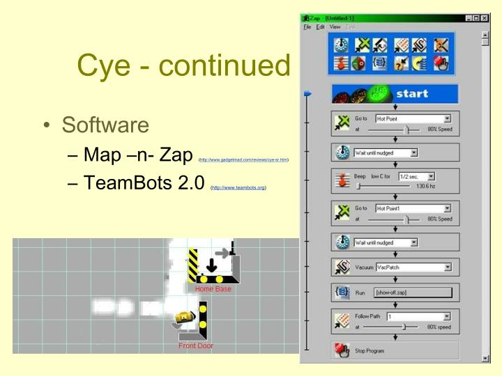 Cye - continued