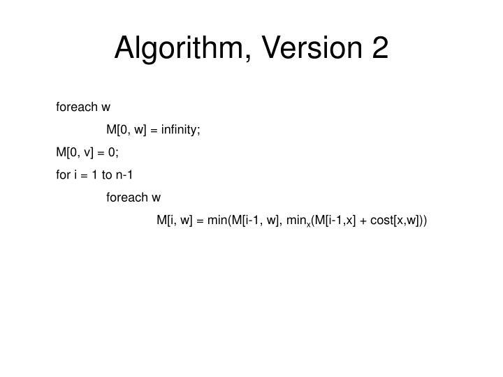 Algorithm, Version 2
