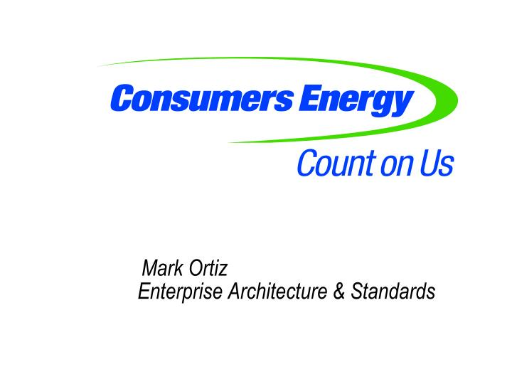 mark ortiz enterprise architecture standards