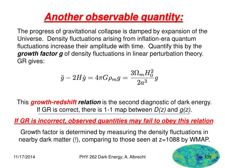 Another observable quantity: