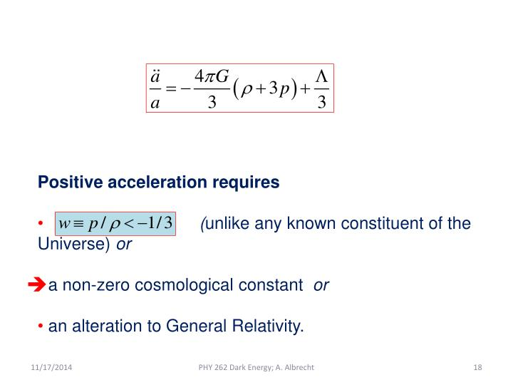 Positive acceleration requires